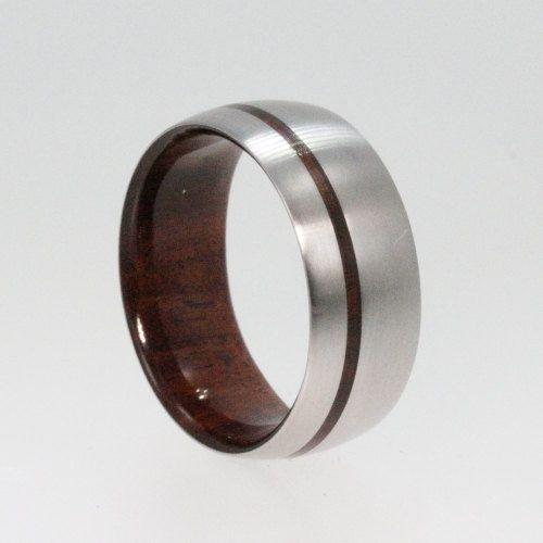 Titanium Ring Ironwood Wdding Band Wood by jewelrybyjohan on Etsy