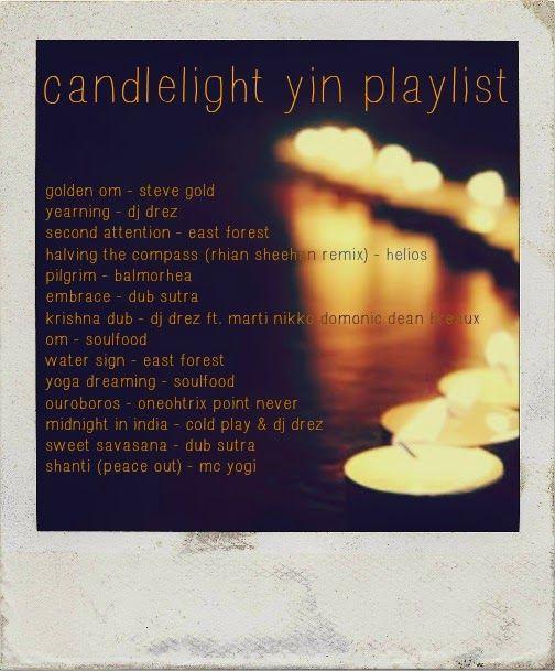 candlelight yin yoga playlist