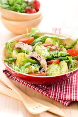 Salade de pommes de terre au thon #recette #salade #facile