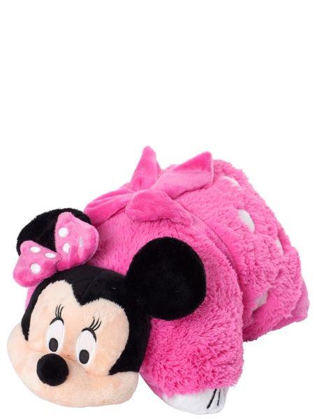 Söpö pinkki Minni sopii sekä unileluksi että tyynyksi – isoille ja pienille. Pituus 46 cm.