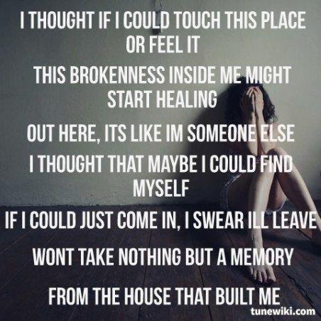 Miranda Lambert House That Built Me Lyrics | The House That Built Me ~  Miranda Lambert