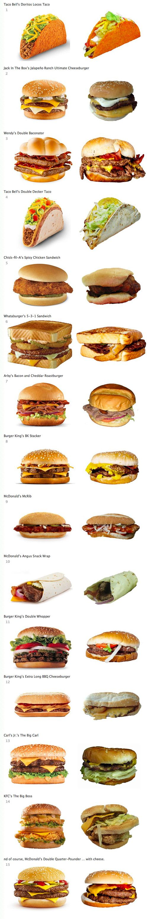 The deceptive reality of fast food advertising...