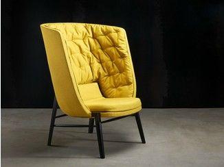 Gepolsterter Sessel mit hoher Rückenlehne CLEO | Sessel mit hoher Rückenlehne - ROSSIN