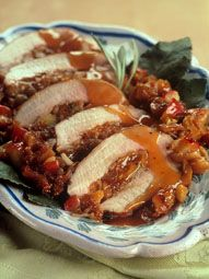 Dried Fig and Apple-Stuffed Pork Loin with Cider Sauce | Valley Fig Growers