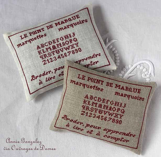 """Le cadeau d'Annie (grille sur le blog """"ouvrages de dames"""")"""