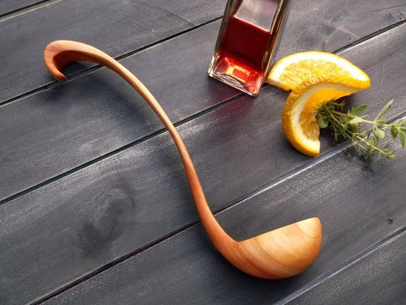"$52      10.5"" long    Travis?   Our Classic Ladle in Wild Cherry, for serving sauces and gravies, beautiful enough for special occasions, useful enough for everyday"