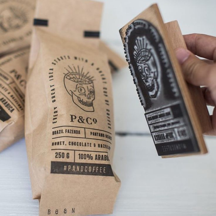 Rubberstamp design by @pandco #coffee #packaging #printspotters