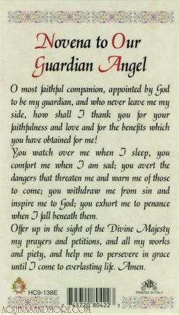 Novena to Our Guardian Angel Prayer Card.....oh how I often forget this constant friend of mine.. <3