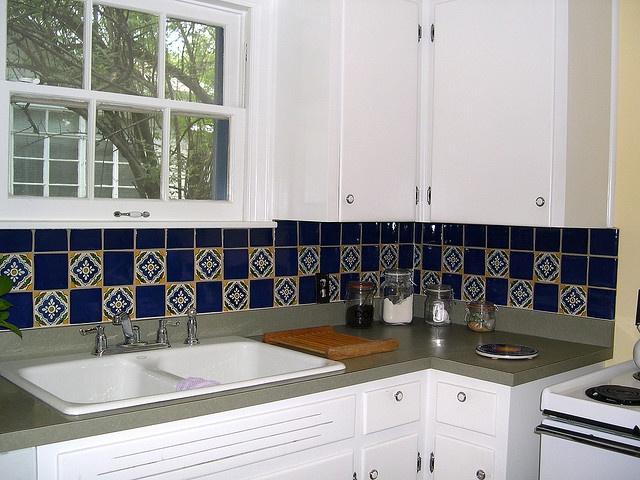 46 best blue & white tiled kitchen images on pinterest | tiles