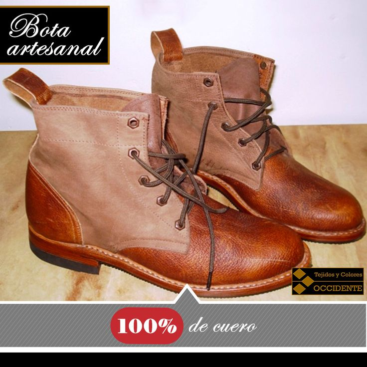 Botas artesanal 100% de cuero, colores combinados o solo un color, altos y bajos. Talla: 35-44