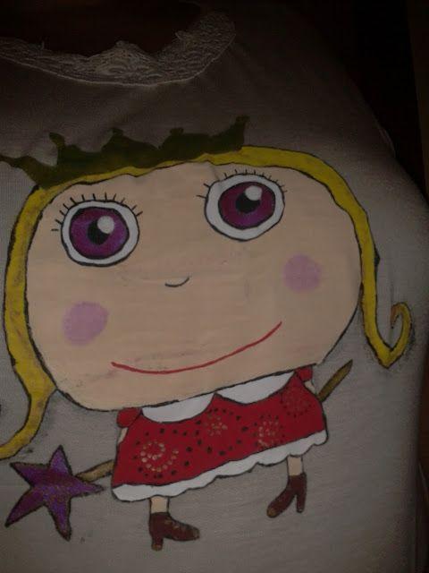 Una princesa en mi camiseta.