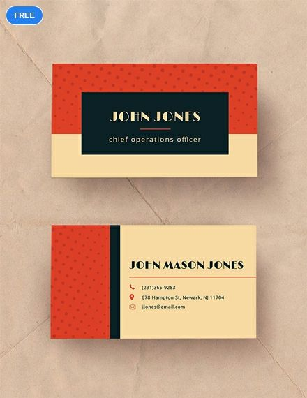 Free Vintage Business Card Template Business Cards Pinterest
