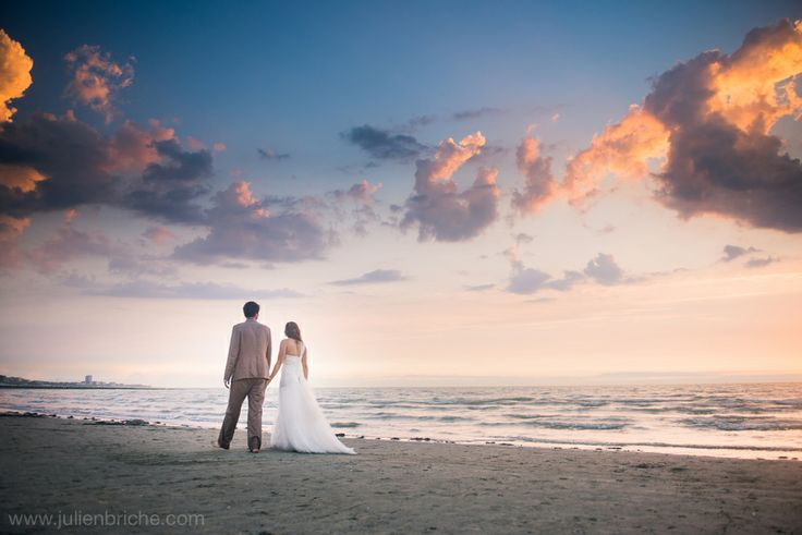 Trash The Dress à la plage, TTD, wedding, mariage, bride, groom, mariés, plage, beach, photographe Julien Briche