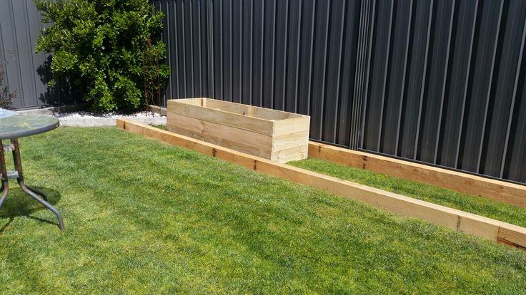 Starting the garden boxes