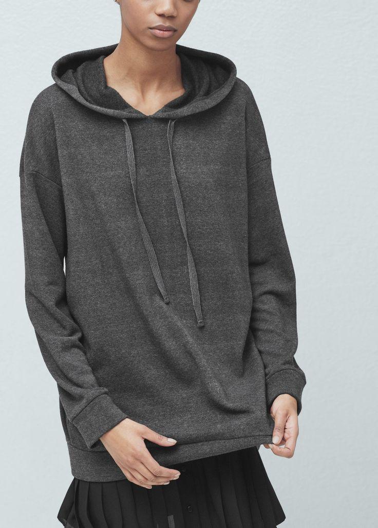 Plush hoodie | MANGO