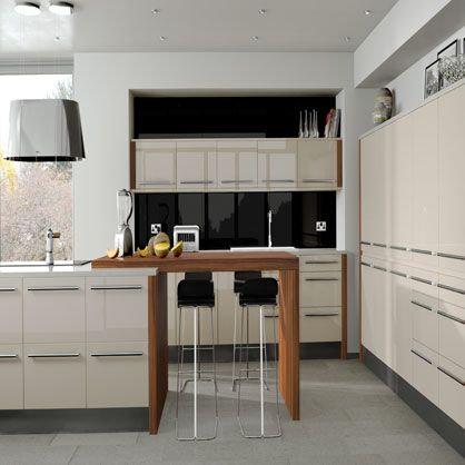 Odyssey Cream Gloss Replacement Kitchen Cabinet Doors | Made to Measure Kitchen Doors  #kitchencabinets #doors #kitchens