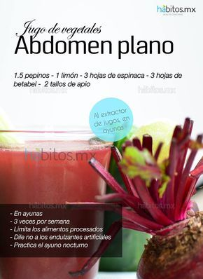 Hábitos Health Coaching | JUGO DE VEGETALES ABDOMEN PLANO