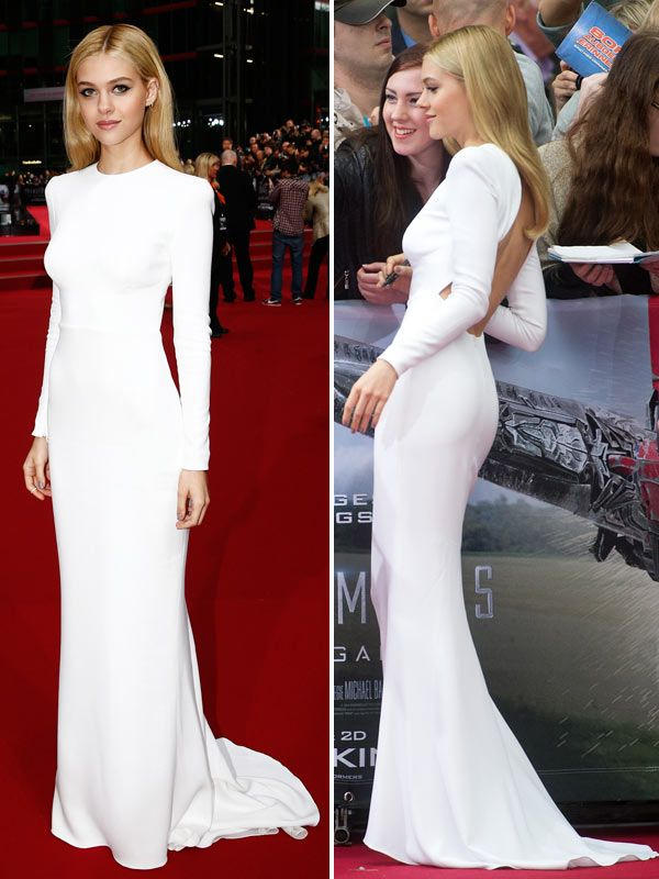 Nicola Peltz Jaw-Dropping, Backless Gown At Transformers Premiere