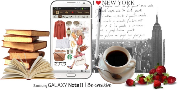 """""""Downtown Muse (Samsung GALAZY Note II)"""" by dress-me-up-darling ❤ liked on Polyvore"""