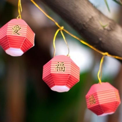 Chinese New Year Paper Lantern - These decorative lanterns aren't meant to be lit, but they're great additions to your party décor.  Download Free Chinese New Year Paper Lantern Template