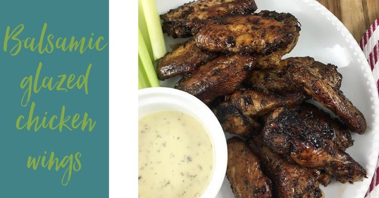 Make these balsamic glazed chicken wings without a special trip to the store! I bet you have all 6 ingredients you'll need already in your pantry.
