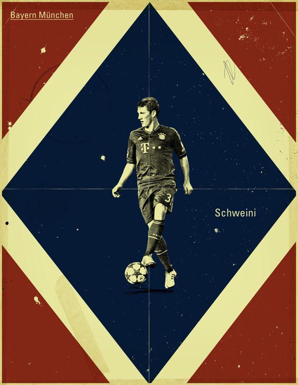 Famous Footballers by Jon Rogers, Bastian Schweinsteiger