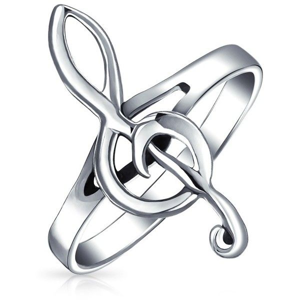 Bling Jewelry Music To My Ears ($17) ❤ liked on Polyvore featuring jewelry, rings, accessories, grey, grey jewelry, sterling silver jewellery, sterling silver rings, band rings and sterling silver jewelry