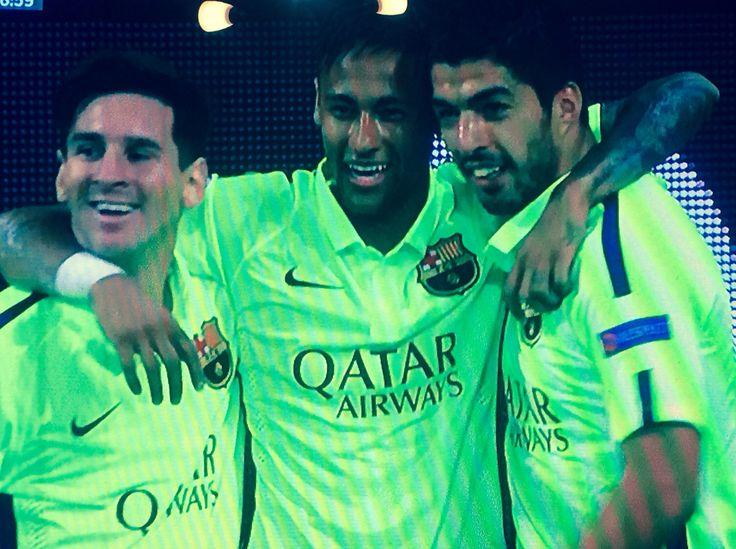 Messi , Neymar , Suarez