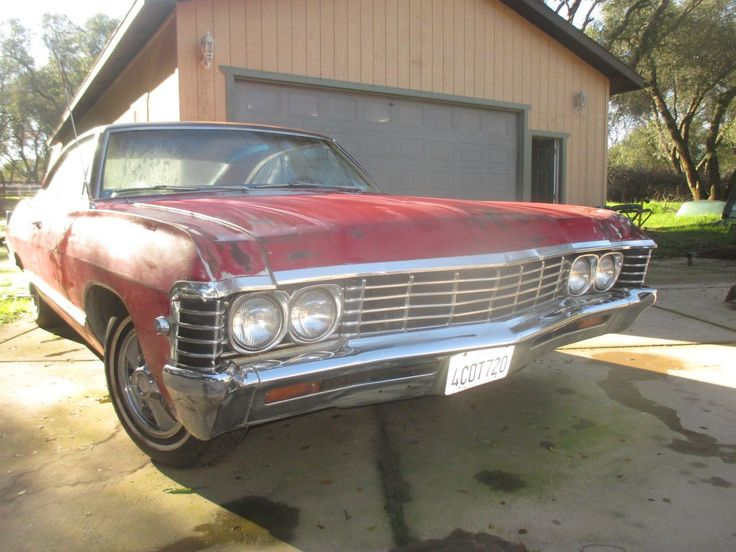 Awesome Great 1967 Chevrolet Impala  Chevrolet Impala 1967 67 L6 V8 2 Door Coupe Red Deluxe Interior AC GM Original 2017 2018