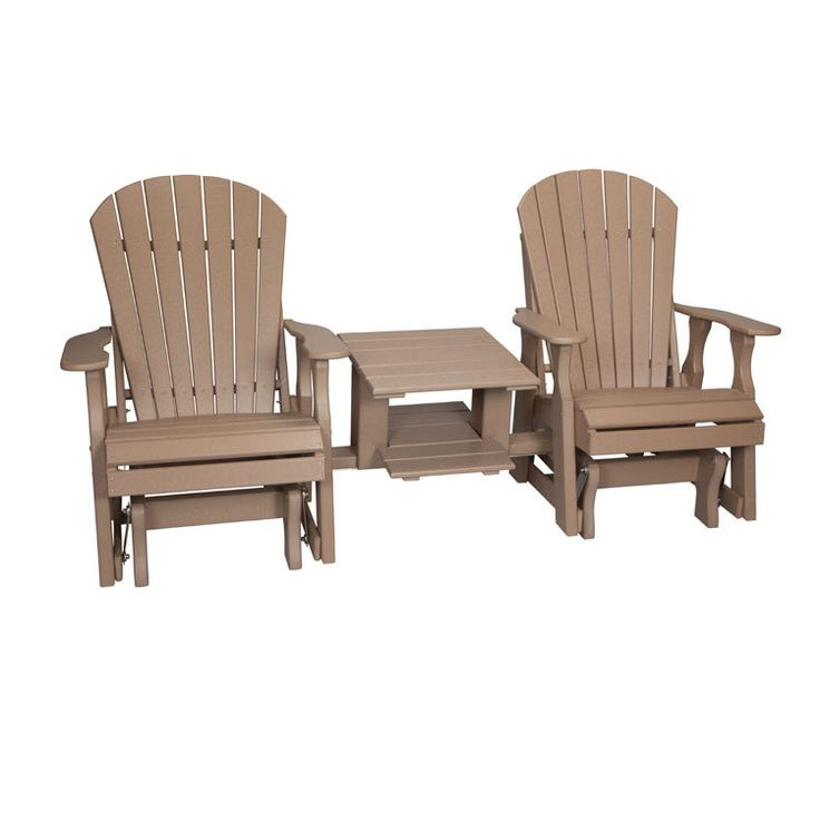 Poly Lumber Glider Settee With Double Table