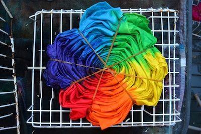 tie dye sheets method
