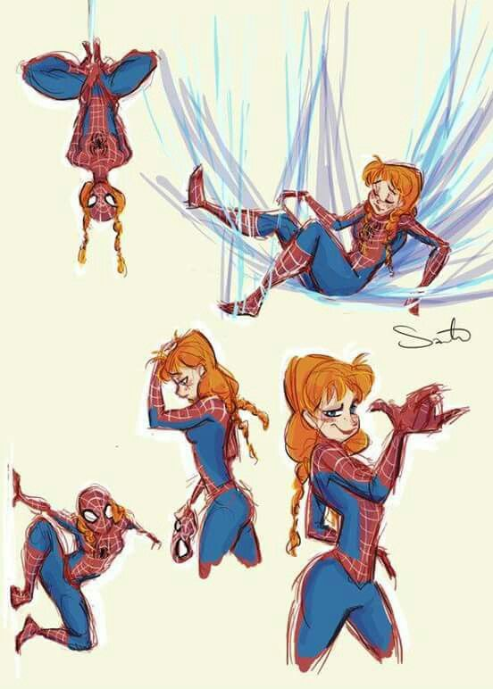 Anna ad Spiderman