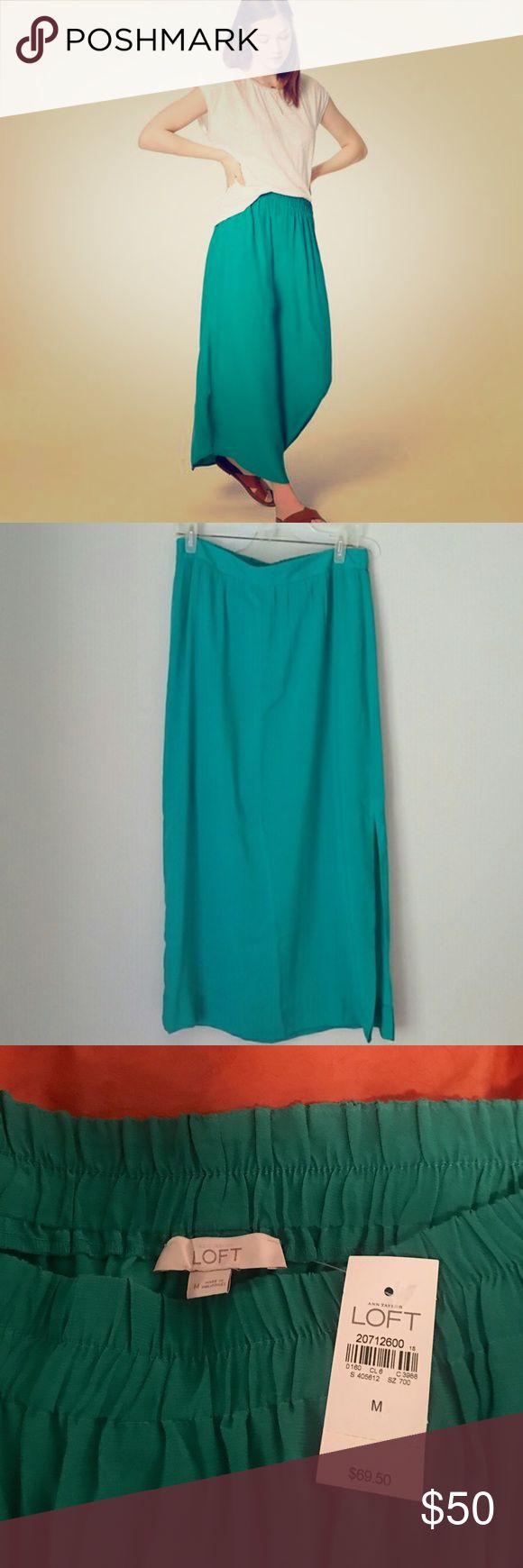 🆕 LOFT Teal Maxi Skirt NWT Never Been Worn but too late to return.  This skirt has so many possibilities and needs a new home!!  Accepting offers or bundle to save! LOFT Skirts Maxi