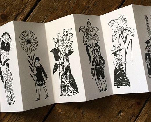 Christopher Brown's folded leaflet for Wild At Heart, Chelsea http://allthingsconsidered.co.uk/2014/05/chelsea-flower-parade.html