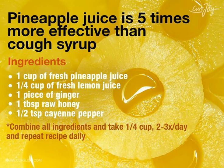 The best vitamins to combat cold and flu season Pineapple juice for coughing