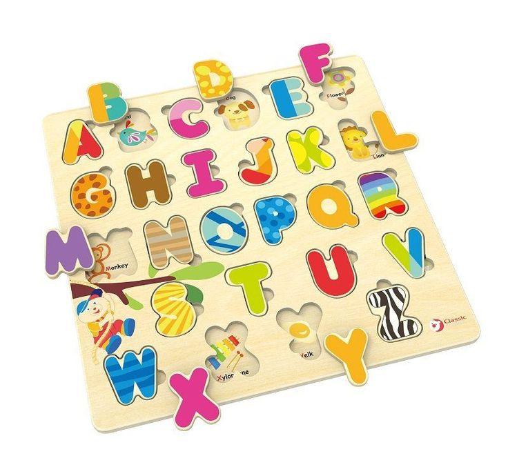 Alfabet angielski układanka puzzle. drewniane zabawki