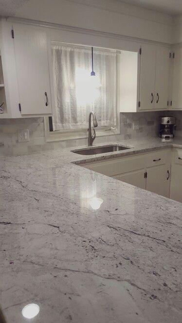 White granite, Back splashes and Granite on Pinterest