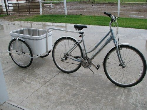 Bicycle | All Aluminum | Bicycle Cargo Trailer | for Sports, Industry, Delivery, Police, and Self-Sufficient Living.