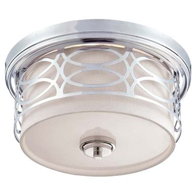 85 best light fixtures images on pinterest lights chandelier and harlow polished nickel two light flush dome fixture wslate gray fabric shade nuvo lighti mozeypictures Images