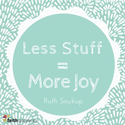"""There was stuff everywhere. As much as I would've liked to point the finger elsewhere, there was no one but myself to blame for the chaotic mess that our life had become. Yes, my girls were being showered with gifts from a very generous auntie who showed her love by providing more toys and books<a href=""""http://www.faithgateway.com/less-stuff-more-joy/"""" title=""""Read more"""" >...</a>"""