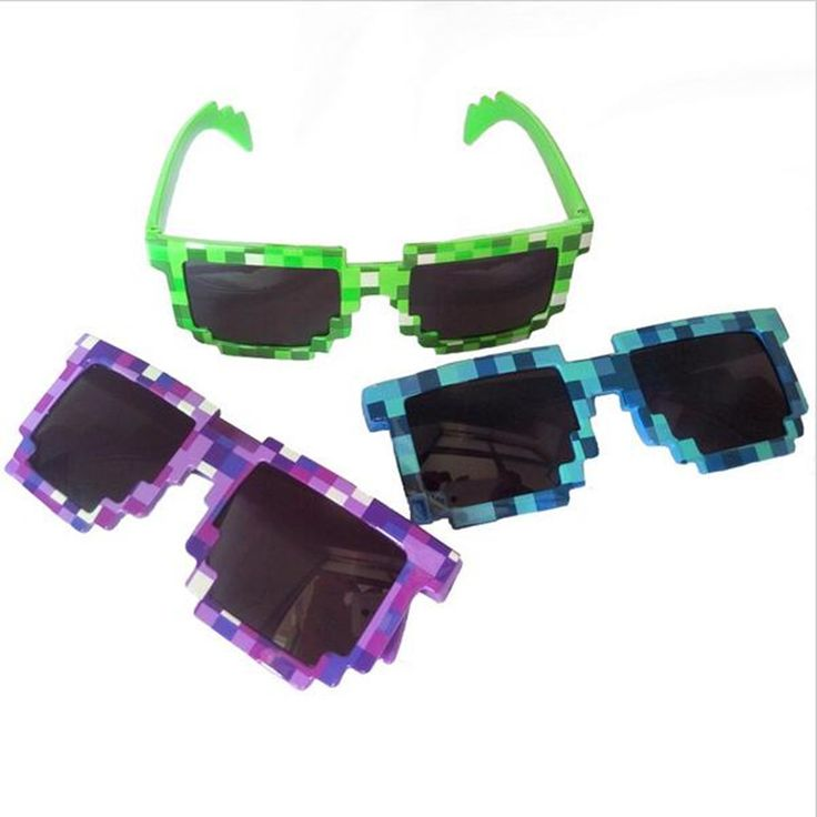 Minecraft Unisex Sunglasses Mosaic Sun Glasses - free shipping worldwide