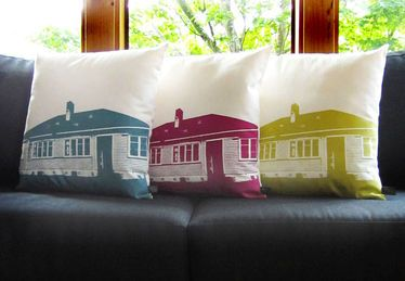 Genevieve Packer : State House Cushions - Colour - Clever Bastards: The best of New Zealand art & design