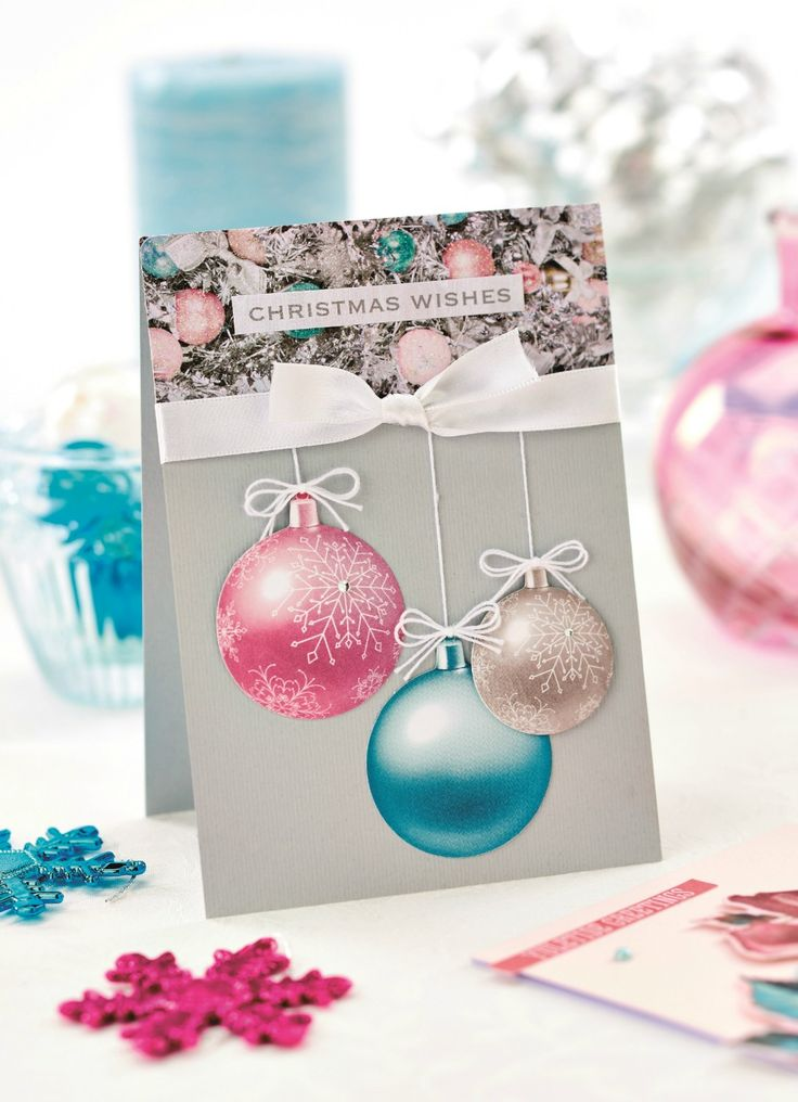 This Christmas card was made using Kaisercraft's Silver Bells collection - PaperCrafter issue 89 (Photography: cliqq.co.uk)