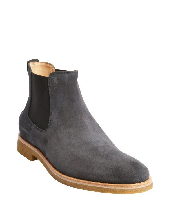 b51681bd1728 Handmade mens Dark gray Chelsea boot