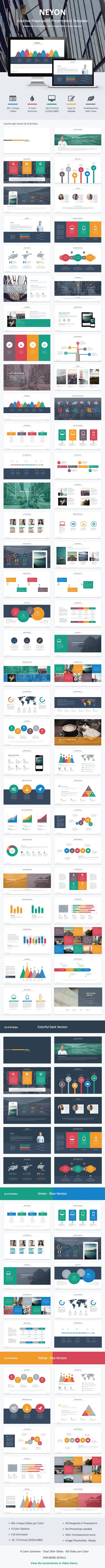 Neyon - Powerpoint Template (Powerpoint Templates)                                                                                                                                                                                 More