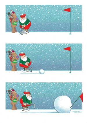 snow golf...one guess who this reminds me of...lol