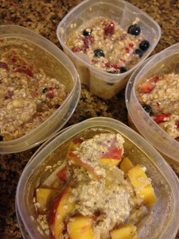 Four point Weight Watchers overnight oatmeal--Love these!!