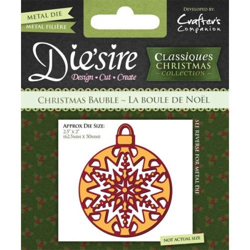 FREE Crafter's Companion bauble die with Simply Cards & Papercraft 129!