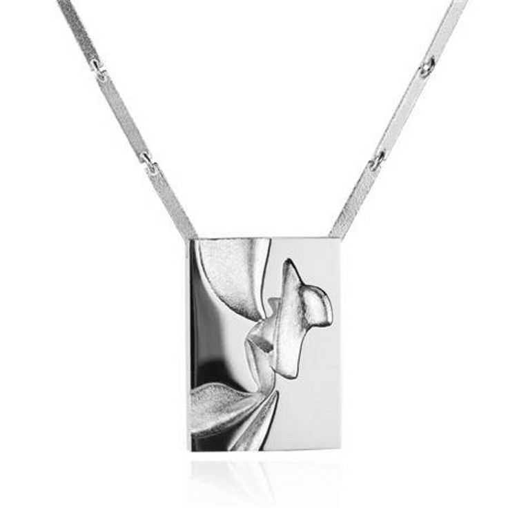 Aallot Necklace, Lapponia #lapponia #style #brand #jewellery #cambridge #silver #unusual #necklace