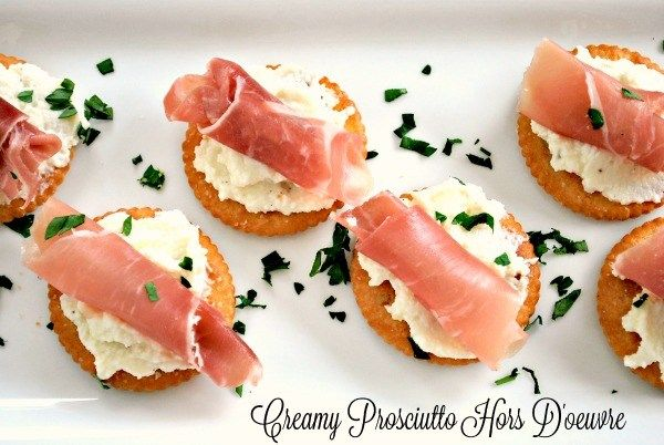 Creamy Prosciutto Hors D'oeuvre- A great appetizer for get togethers! #appetizer #ritz #Food #recipe